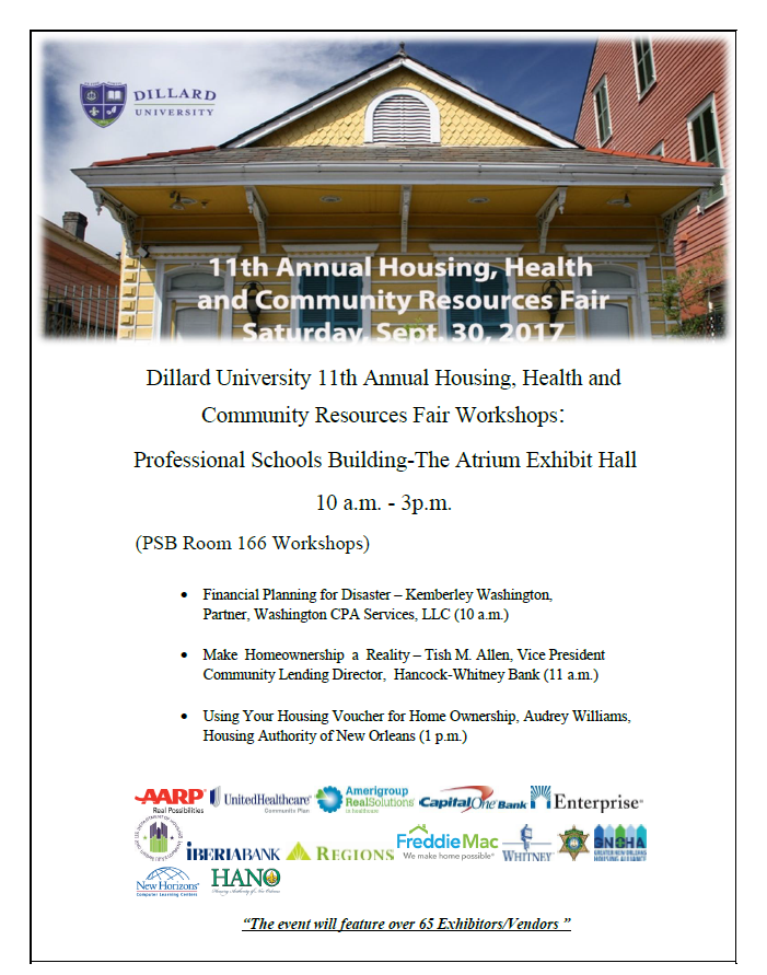 11th Annual Housing, Health , and Community Resources Fair