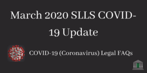 March 2020 SLLS COVID-19 Update Blog Post Image
